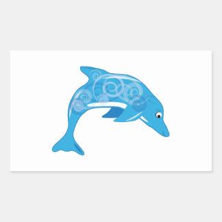 Fancy Dolphin Rectangular Stickers