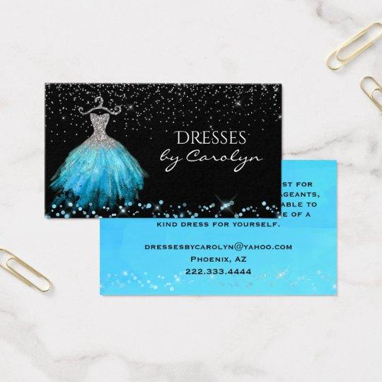 Fancy Dress Tailor Glittery Business Card