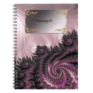 Fancy Elegant Fractals With Cool Mandala Patterns Notebook
