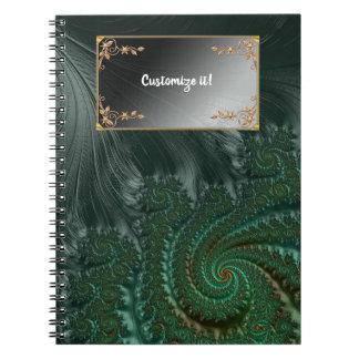 Fancy Elegant Fractals With Cool Mandala Patterns Notebook