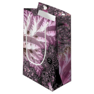 Fancy Elegant Fractals With Cool Mandala Patterns Small Gift Bag