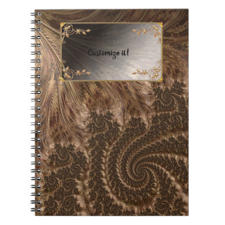 Fancy Elegant Fractals With Cool Mandala Patterns Spiral Notebook