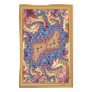 Fancy Elegant Fractals With Cool Mandala Patterns Stationery