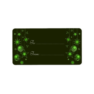 Fancy Elegant Green Christmas Decorations Ta Address Label