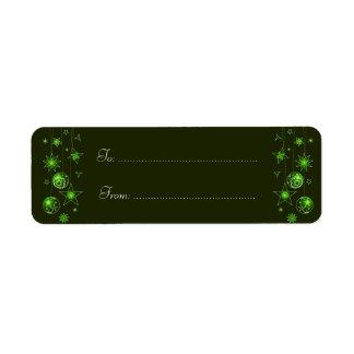 Fancy Elegant Green Christmas Decorations Ta Return Address Label