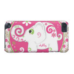 Fancy Elephant Floral Custom Name iPod Touch 5G Cover