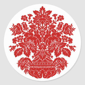 """Fancy Embellishment ~ 1.5"""" Round Sticker"""
