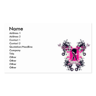 fancy emo girl kid with crossbone skull swirls business card template