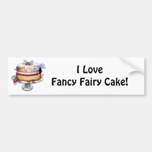 Fancy Fairy Cake!   Collector Bumper Sticker