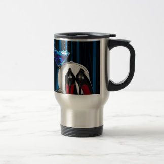 fancy fashion girly martini stilletos stainless steel travel mug