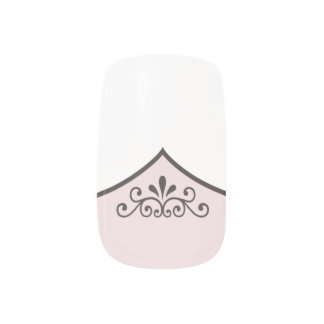 Fancy Faux French Tip Manicure with ANY COLOR Base Nail Wraps