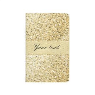 Fancy Faux Gold Glitter Personalized Journal