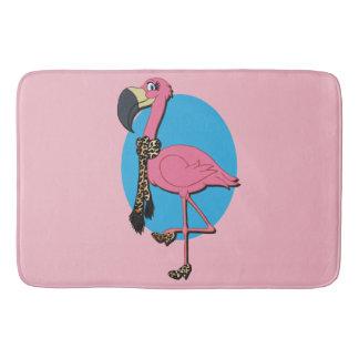 Fancy Flamingo Large Bath Mat
