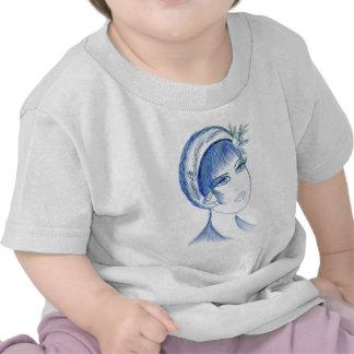 Fancy Flapper In Blues T-shirts