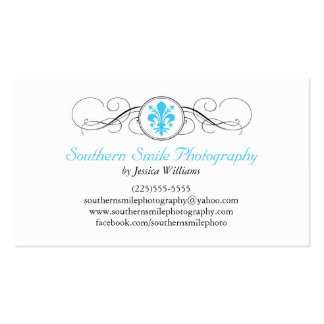 Fancy Fleur de Lis Pack Of Standard Business Cards