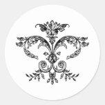 Fancy Fleurish BW Sticker