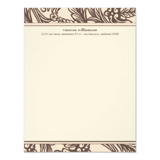Fancy Floral Custom Flat Note Cards (pink) 11 Cm X 14 Cm Invitation Card