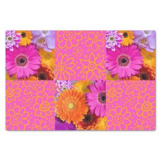"""Fancy Flowers 10"""" X 15"""" Tissue Paper"""