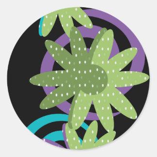 Fancy Flowers Round Sticker