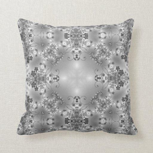 Fancy Flowers + Spiral Swirls Customizable Pillow