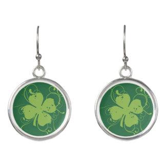Fancy Four Leaf Clover Earrings