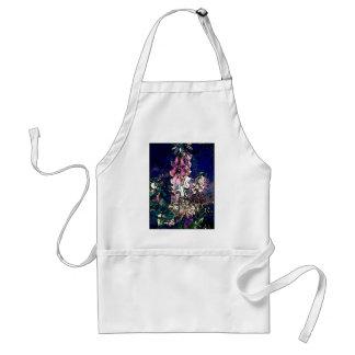 Fancy Foxglove Floral Art Standard Apron