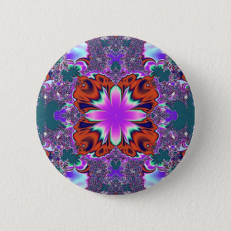 Fancy Fractal Button Pin