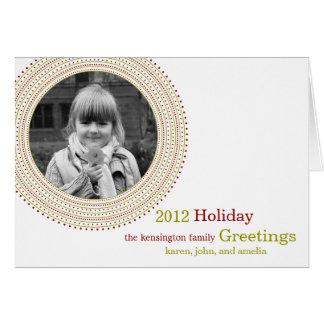 Fancy Frame Holiday Card / Christmas Card Card