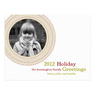 Fancy Frame Holiday Postcard
