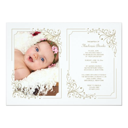 Fancy Frame Photo Invitation Double