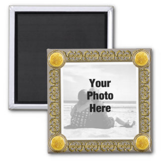 Fancy Framed Photo Magnet