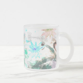 FANCY FROSTED GLASS MUG