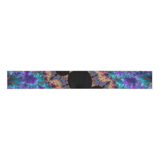 Fancy & Fun Fractals With Cool Mandala Patterns Grosgrain Ribbon