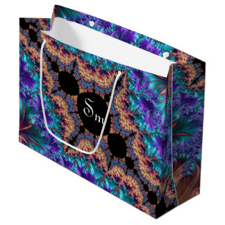 Fancy & Fun Fractals With Cool Mandala Patterns Large Gift Bag
