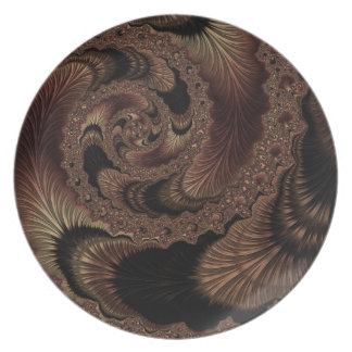 Fancy & Fun Fractals With Cool Mandala Patterns Plate
