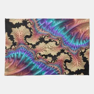 Fancy & Fun Fractals With Cool Mandala Patterns Tea Towel