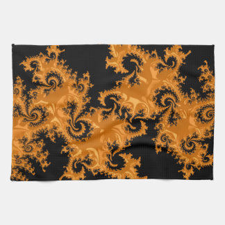 Fancy & Fun Fractals With Cool Mandala Patterns Tea Towel