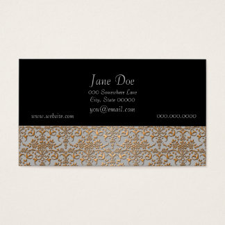 Fancy Gold and Grey Damask Pattern