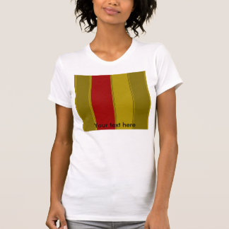 Fancy gold and red stripes tees