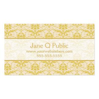 Fancy Gold Damask Pack Of Standard Business Cards