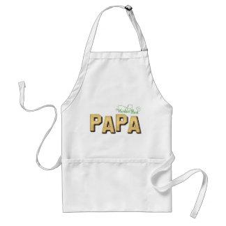 Fancy Gold World's Best Papa Standard Apron