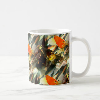Fancy Goldfish Faces Watercolor Image Coffee Mug