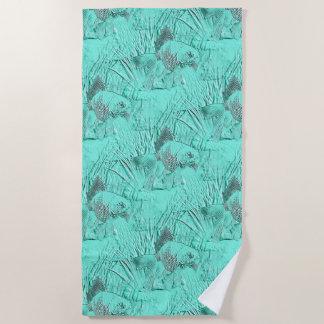 Fancy Goldfish Seafoam Green Beach Towel