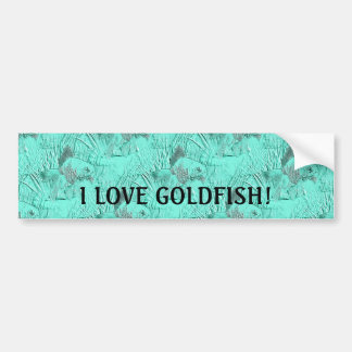 Fancy Goldfish Seafoam Green Bumper Sticker
