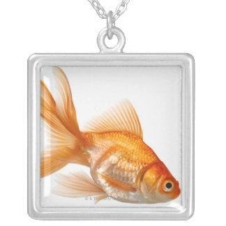 Fancy Goldfish Silver Plated Necklace