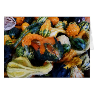 Fancy Gourds Greeting Card