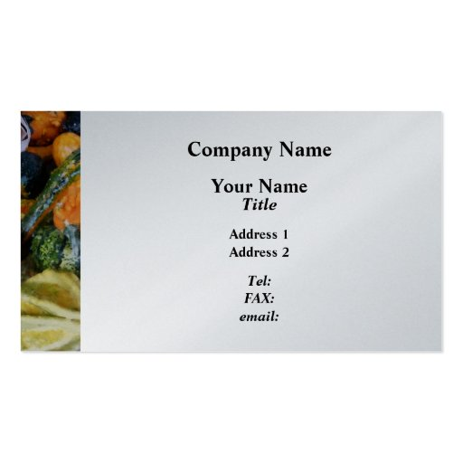 Fancy Gourds - Platinum Finish Business Cards