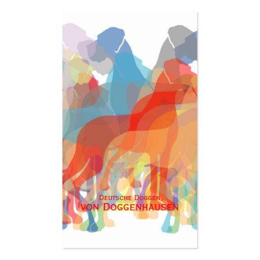 Fancy Great Danes Business Card Template