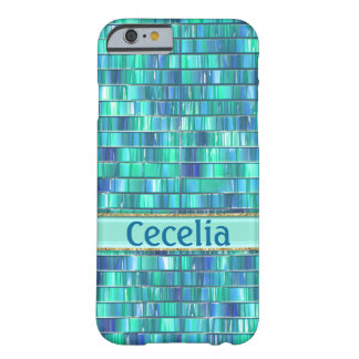 Fancy Green Blue Glass Mosaic Barely There iPhone 6 Case