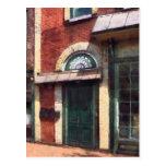Fancy Green Door Burlington NJ Postcard